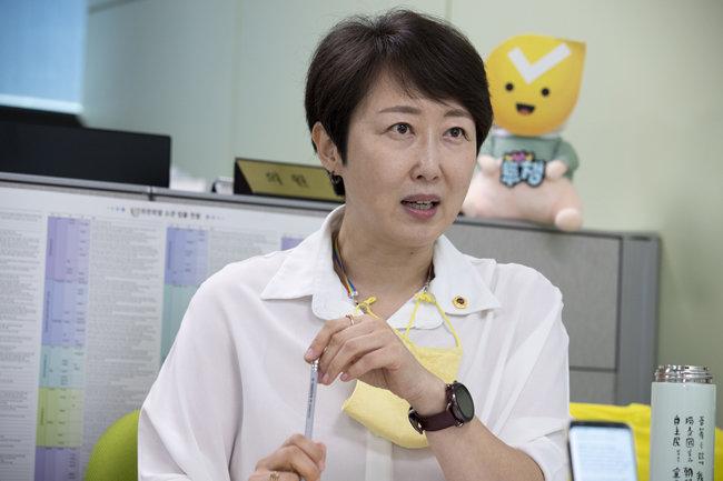 권수정 서울특별시의회 의원. [지호영 기자]