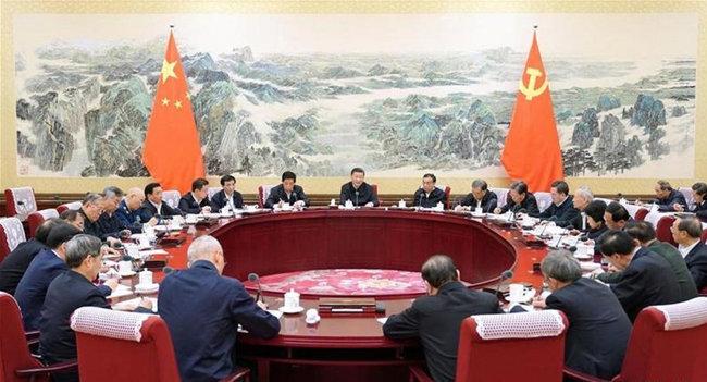 중국 공산당 지도부인 정치국 상무위원들이 주요 정책을 논의하고 있다. [China Daily]