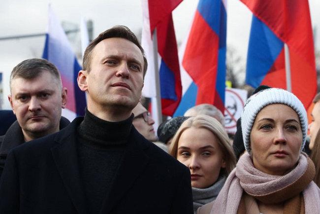 러시아 야권 지도자인 알렉세이 나발니가 반푸틴 집회에 참석한 모습. [TASS]