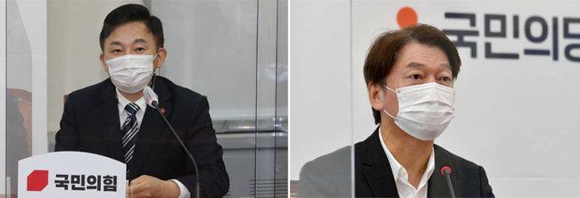 원희룡 제주지사(왼쪽). 안철수 국민의당 대표. [뉴스1, 뉴시스]
