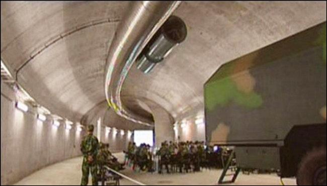 중국의 지하 강철 만리장성 모습. [궈팡바오]