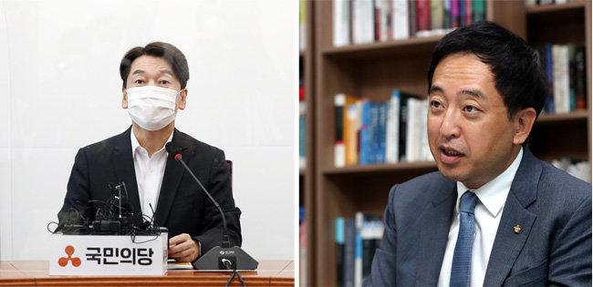 국민의당 안철수 대표(왼쪽)와 금태섭 전 의원. [동아DB]