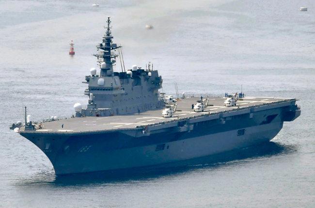 '경항모'로 분류되는 일본 이즈모급 구축함. [AP=뉴시스]
