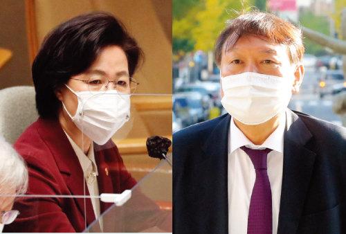 추미애 법무부장관(왼쪽), 윤석열 검찰총장. [동아DB]