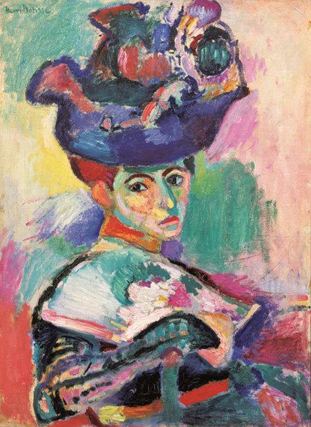모자를 쓴 여인, 앙리 마티스, 1905, 샌프란시스코 미술관 소장.