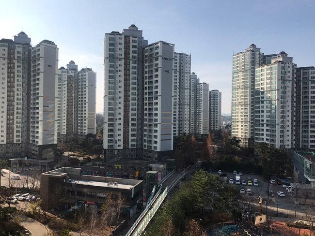 일산 덕이동 하이파크시티 전경.