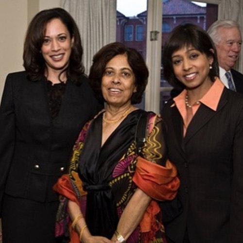 카멀라가 젊었을 때 어머니 샤말라, 여동생 마야와 함께 찍은 사진. [해리스 인스타그램]