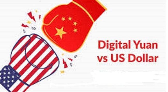 디지털 위안화 VS 달러화 대결 일러스트레이선. [youtube]