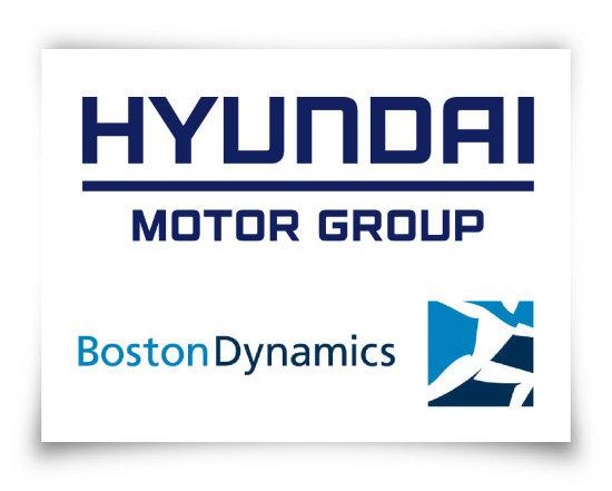 현대차그룹(위)과 보스턴 다이나믹스 브랜드 로고. [사진 제공 · 현대자동차그룹]