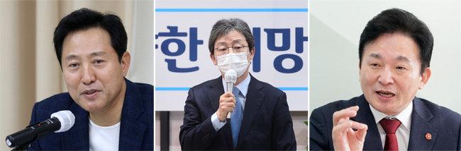 오세훈 전 서울시장. 유승민 전 의원. 원희룡 제주지사(왼쪽부터)   [동아DB, 뉴스1]