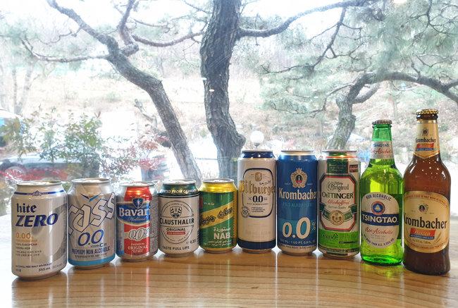 대형 마트와 편의점에 나온 무알코올류 맥주 제품. [명욱 제공]
