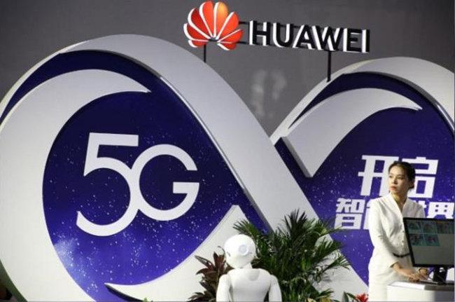 중국 통신장비업체 화웨이가 5G(5세대) 제품을 선보이고 있다. [CGTN]
