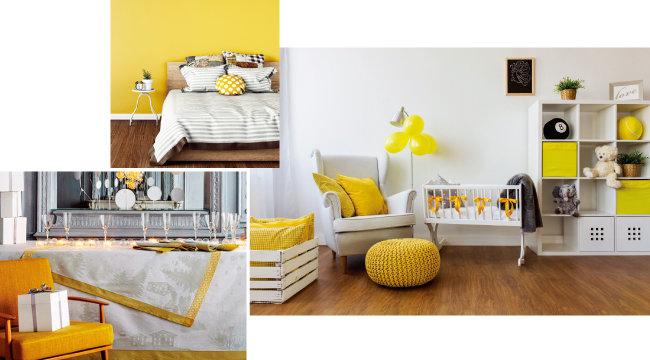 노란색과 회색을 활용해 꾸민 공간.  [메종&오브제파리, GettyImages]