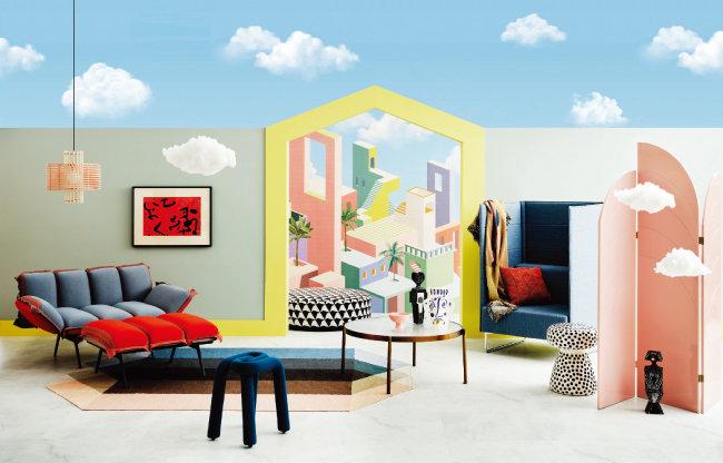 LG하우시스 '2021/22 디자인 트렌드 세미나'에서 선보인 3가지 테마 중 '홈캠프'.  [사진 제공 · LG하우시스]