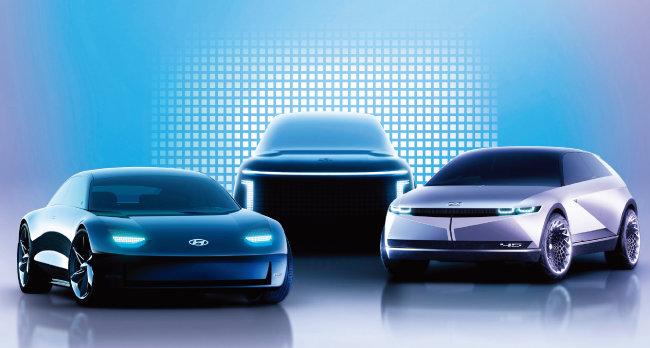 현대자동차의 전기차 아이오닉 시리즈 콘셉트카. [사진 제공 · 현대자동차]