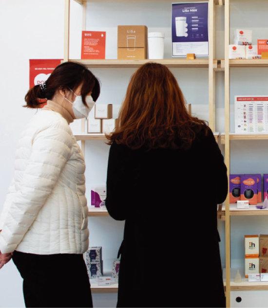 '월경상점'에서는  제품 상담과 추천도 받을 수 있다. [조영철 기자]