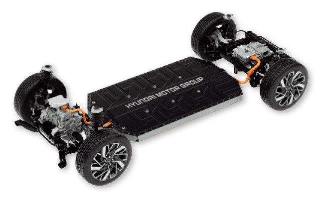 현대자동차그룹이 개발한  전기차 플랫폼 E-GMP. [사진 제공 · 현대자동차그룹]