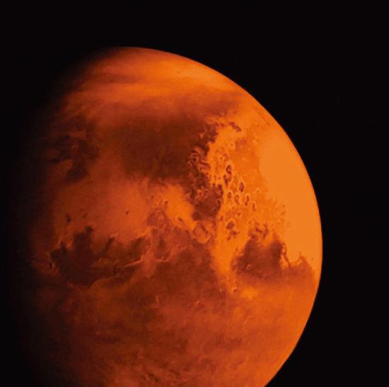 톈원 1호가 촬영한 화성. [CNSA]