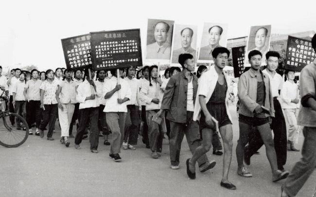 중국 문화대혁명 당시 마오쩌둥을 지지하는 홍위병들. [GettyImages]