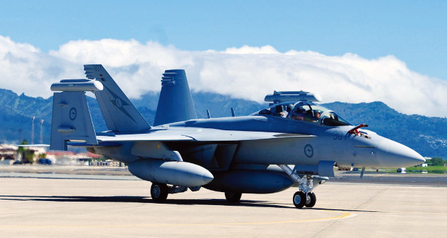 미군 EA-18G 그라울러 전자전기(電子戰機). [사진 제공 · 미국 공군]