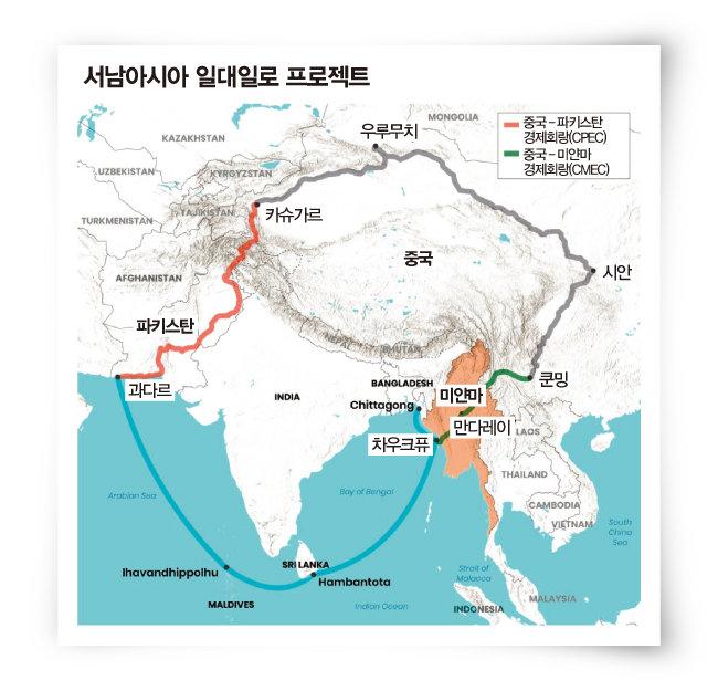 중국은 자국과 미얀마를 연결하는 건설 사업에 거대 자본을 투자하고 있다. [CIMS]