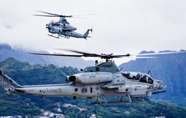 미군 AH-1Z 공격헬기. [사진 제공 · 미 해병대]