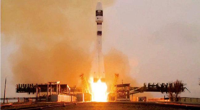 3월 22일(현지 시각) 카자흐스탄 바이코누르 우주센터에서 국산 차세대중형위성 1호가 성공적으로 발사됐다.  [사진 제공 · 과학기술정보통신부]