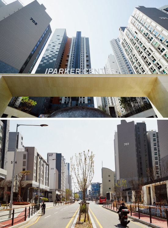 최근 재개발에 성공한 장위9구역 인근 새 아파트들.  9구역 주민들의 소외감이 더 커졌다. [홍중식 기자]