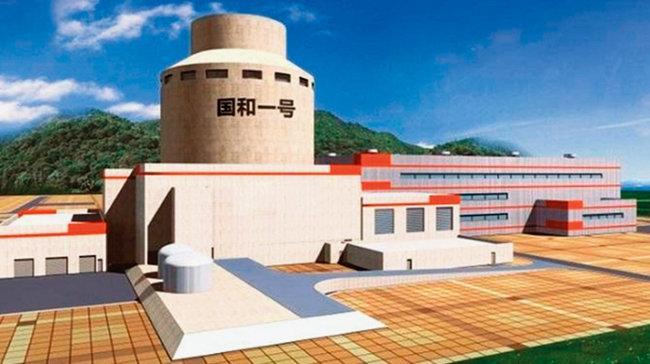 중국이 독자 개발한 3세대 원자로 궈화 1호 기술을 적용한 원자력발전소 조감도. [SPIC]