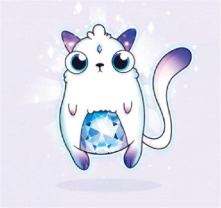 크립토키티 최초로 탄생한 제네시스 고양이. 약 1억2000만 원에 거래됐다. [크립토키티 캡처]