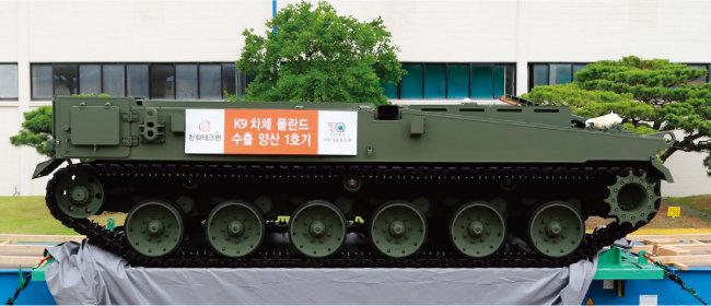 인도 업체 L&T는 한국산 K9 자주포 차체(사진)에 벨기에제 포탑을 장착한 경전차 모델을 인도 국방부에 제안한 것으로 알려졌다. [사진 제공 · 한화디펜스]