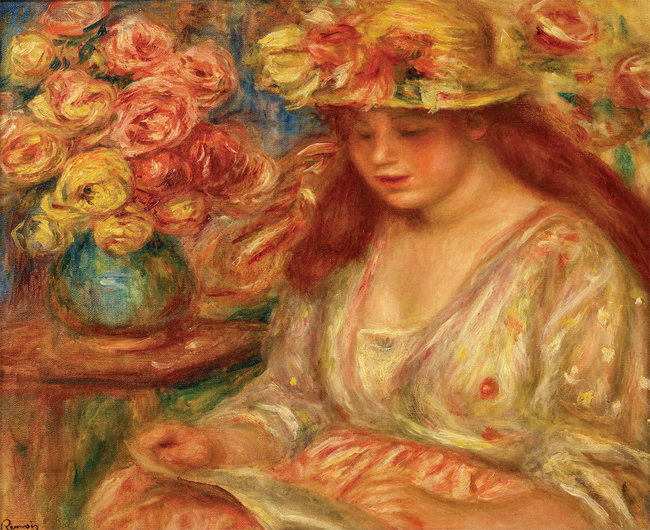 피에르 오귀스트 르누아르, '책 읽는 여인', 1890년대. [사진 제공 · 삼성]