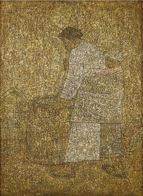 박수근, '절구질하는 여인', 1954. [사진 제공 · 삼성]