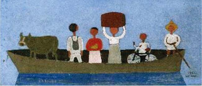 장욱진, '나룻배', 1951. [사진 제공 · 삼성]