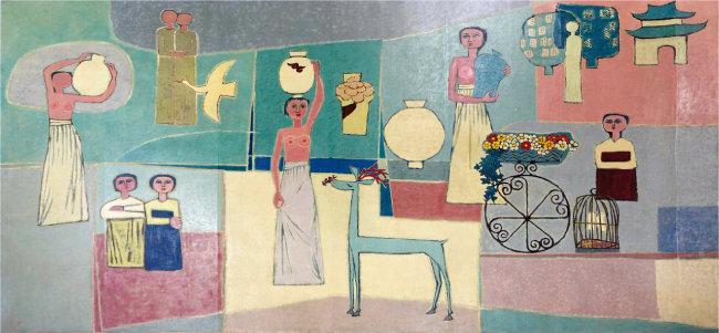 김환기, '여인들과 항아리', 1950년대.  [사진 제공 · 삼성]