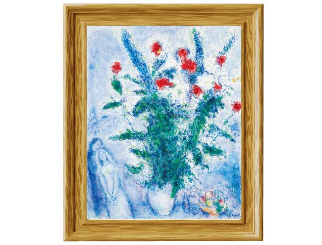 고(故) 이건희 삼성전자 회장이 기증한 마르크 샤갈의 '붉은 꽃다발과 연인들'(1975). [사진 제공 · 삼성]