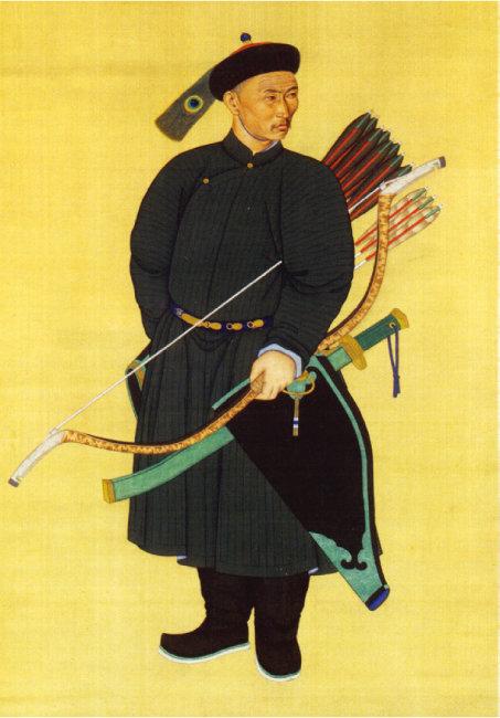 대일통(大一統)이라는 정통성만 확보하면 이민족도 중화제국을 이룰 수 있었다. 사진은 18세기 청나라 만주족 전사의 초상화. [위키피디아]