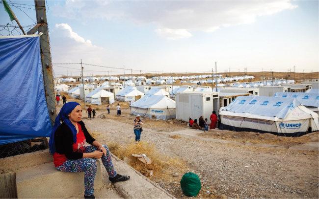 유엔난민기구(UNHCR)가 시리아 북부에 설치한 대규모 난민 캠프. [UNHCR]