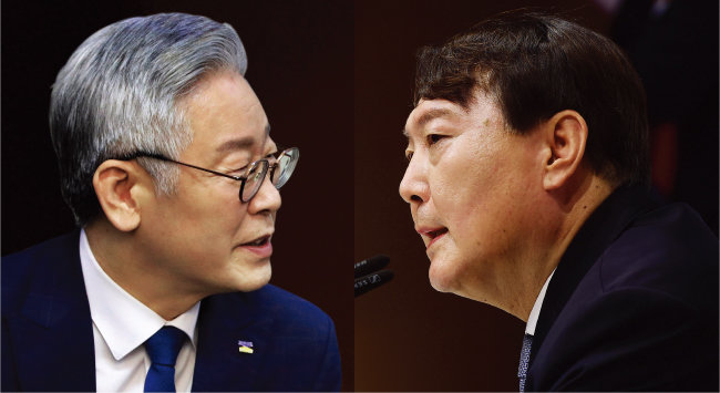 이재명 경기도지사(왼쪽)와 윤석열 전 검찰총장. [뉴스1]