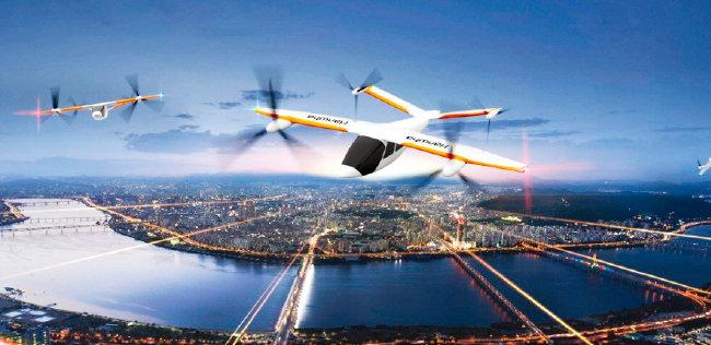 한화시스템과 미국 오버에어가 공동개발 중인 PAV(개인용 자율항공기) 버터플라이 이미지. [사진 제공 · 한화시스템]