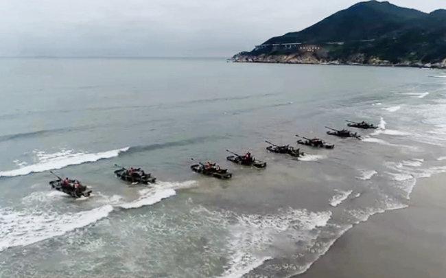 지난해 6월 중국 인민해방군 제73집단군이 대만을 겨냥한 해안상륙 훈련을 실시했다. [중국 CCTV 캡처]