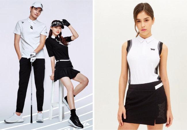 프리미엄 골프웨어 브랜드 파리게이츠(왼쪽)와 PXG. [사진 제공 · 파리게이츠, PXG]