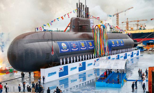 대우조선해양이 건조한 도산 안창호급 잠수함. [사진 제공 · 청와대사진기자단]