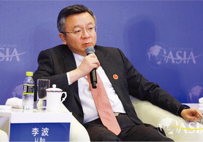 4월 18~21일 중국 하이난성에서 열린 '보아오포럼'에 참석한 리보 런민은행 부총재. [사진 제공 · 보아오포럼]