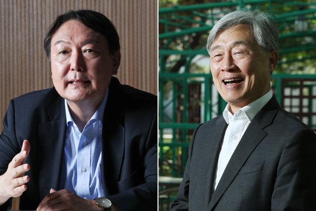 윤석열 전 검찰총장(왼쪽)과 최재형 전 감사원장. [동아DB]