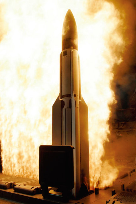 미국 SM-3 미사일. [사진 제공 · 미 해군]