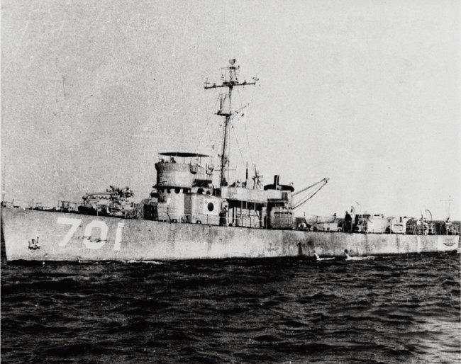 대한해협해전 승리 주역인 해군 백두산함. [사진 제공 · 해군]
