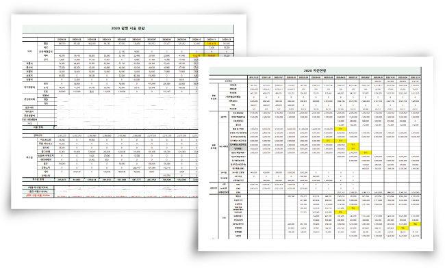엑셀로 정리한 지난해 월별 지출 현황(왼쪽)과 자산 현황. [사진 제공 · 프로N잡러Min]