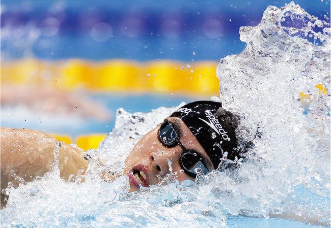 '한국 수영의 미래' 황선우 선수가 7월 29일 도쿄 아쿠아틱스 센터에서 열린 남자 자유형 100m 결승에서 5위에 올랐다. [AP=뉴시스]