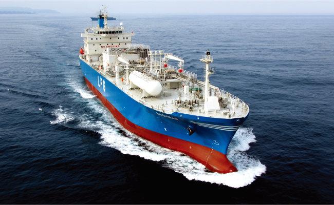 한국조선해양이 건조한 LPG(액화석유가스) 운반선. [사진 제공 · 한국조선해양]